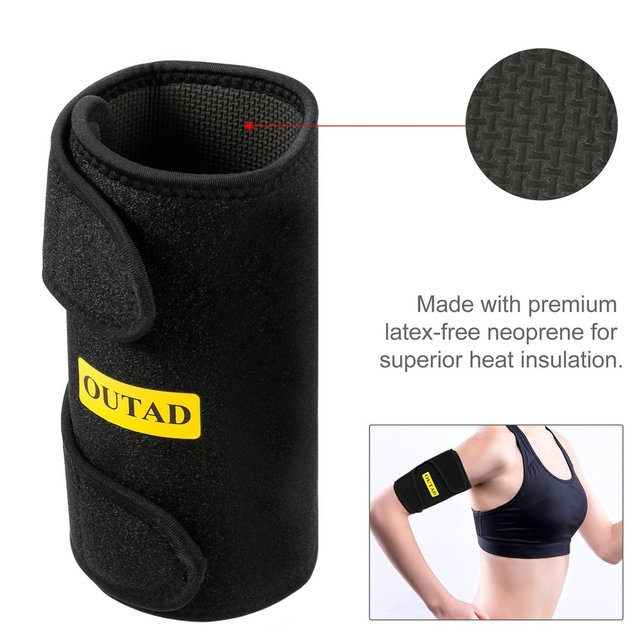 Fashion Arm Warmers Sweat Arm Shaper Sauna Effect Shaping Adjustment Tightening Arm Slimming Shaping Belts Heat Insulation2PCS 4