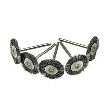 45pcs/SET Flat Wire Brush Steel Rotary Wheel Grinder Tool