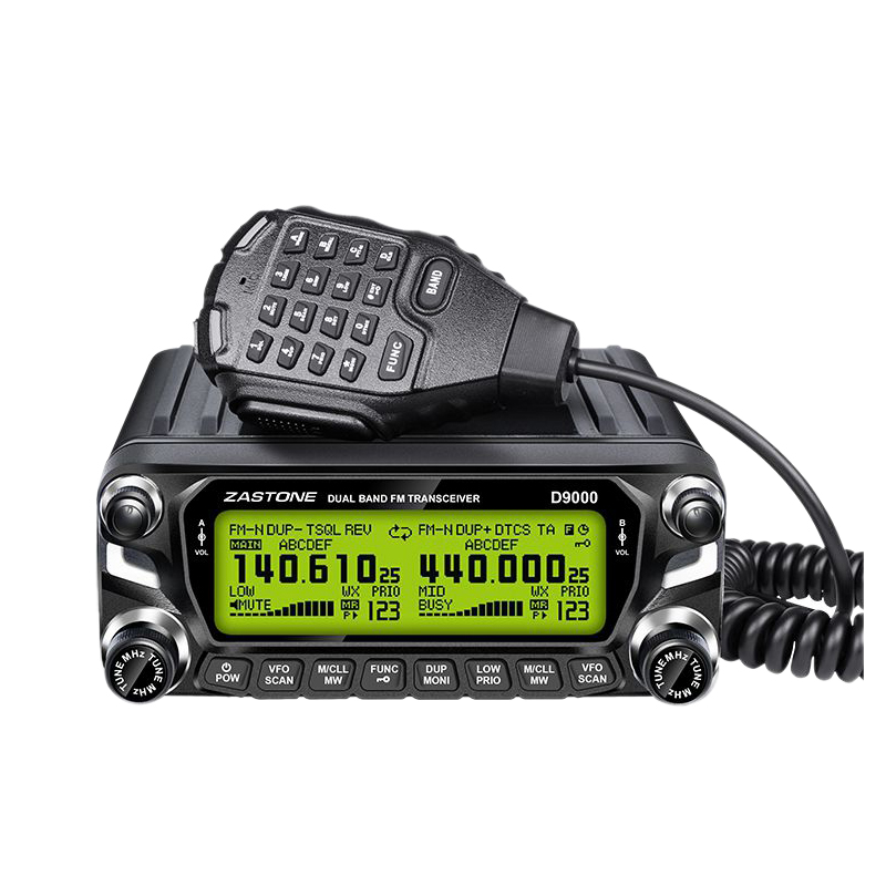 FFYY-D9000 Car Walkie-Talkie 50 Km High Power Radio Transceiver 50W Dual-Power Amplifier Large Screen Radio Talkie 136-174 400-5