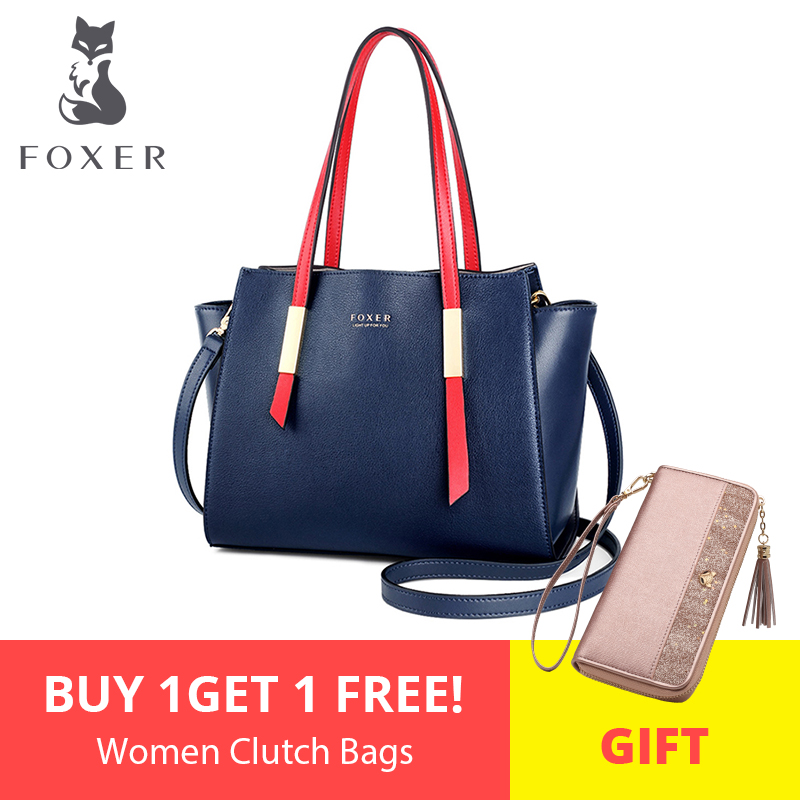 FOXER Crossbody-Bag Handbags Tote Occident-Style New-Design High-Quality Fashion Women