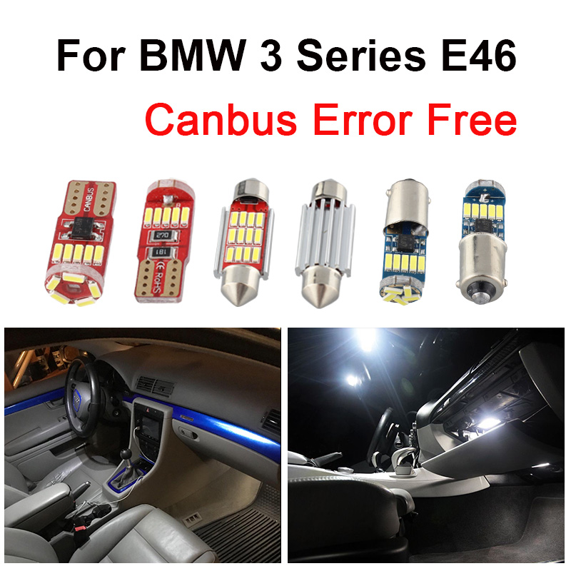 14 stücke Weiß Canbus Fehler Free LED Innen Licht Paket Kit Für <font><b>BMW</b></font> 3 Serie <font><b>E46</b></font> Limousine Coupe 1999- 2005 karte Dome Trunk Licht image