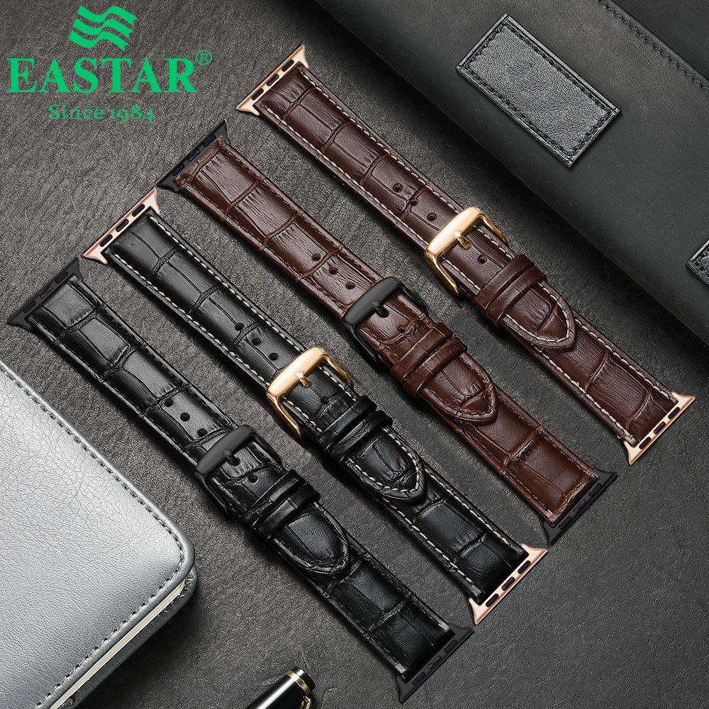 Eastar Hot Sell Leather Watchband For Apple Watch 5 Band Series 3/2/1 Sport Leather Bracelet 42 Mm 38 Mm Strap For Iwatch Band