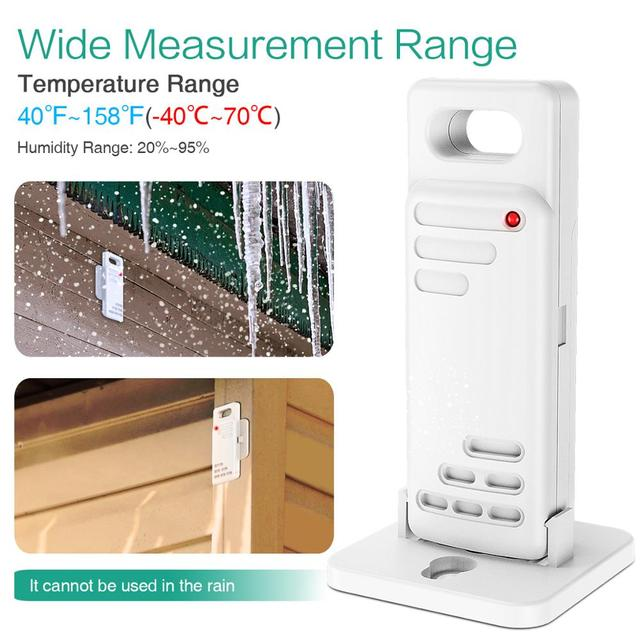 Wireless Thermometer Digital Hygrometer Thermometer Indoor Outdoor with 3 Sensor Humidity Monitor Touchscreen Backlight 4