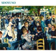 SDOYUNO – peinture à l'huile par numéros 60x75cm, toile numérique sans cadre, décoration de la maison