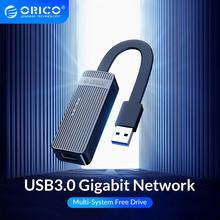 ORICO USB3.0 Network Card Adapter Mini USB2.0 Gigabit Ethernet to USB RJ45 Lan Driver-Free For Windows XP  Xiaomi