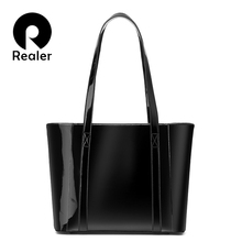 REALER women handbag waterproof Microfiber Synthetic leather