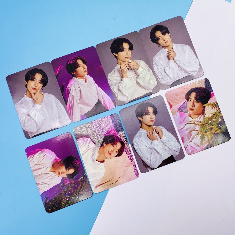 Bangtan Small Card 8PCS/set Japanese Concert FM Fifth Anniversary Card Kpop Small Card Photo Photo Polaroid