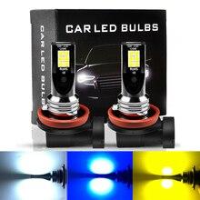 ASLENT H8 H11 안개 빛 미니 h7 LED 자동차 운전 램프 전구 HB3 9005 HB4 9006 3000K 6000K 8000K luces led para auto 12V