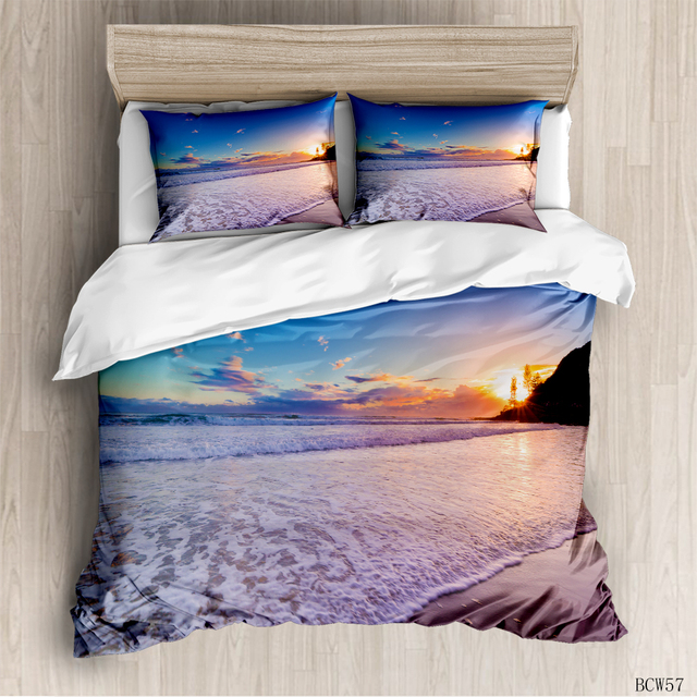 2020 new summer beach series luxury duvet room Bedding Set luxury Duvet Cover Bedding Set printing duvet cover extra large