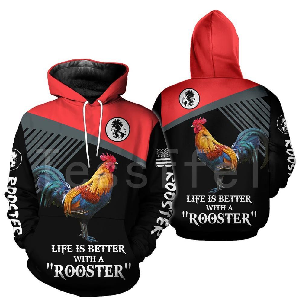 Tessffel Animal Symbol Chicken Rooster Funny Crewneck NewFashion Tracksuit Harajuku 3DPrint Zipper/Hoodies/Sweatshirts/Jacket 17