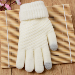 Image 2 - Touch Mobile Screen Gloves Knit Couple Gloves Comfortable and Stylish Outdoor Warm Winter Gifts