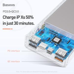 Image 5 - Baseus Quick Charge 3.0 30000mAh Power Bank Type C PD 30000 mAh Powerbank Portable External Battery Charger For iPhone Xiaomi Mi