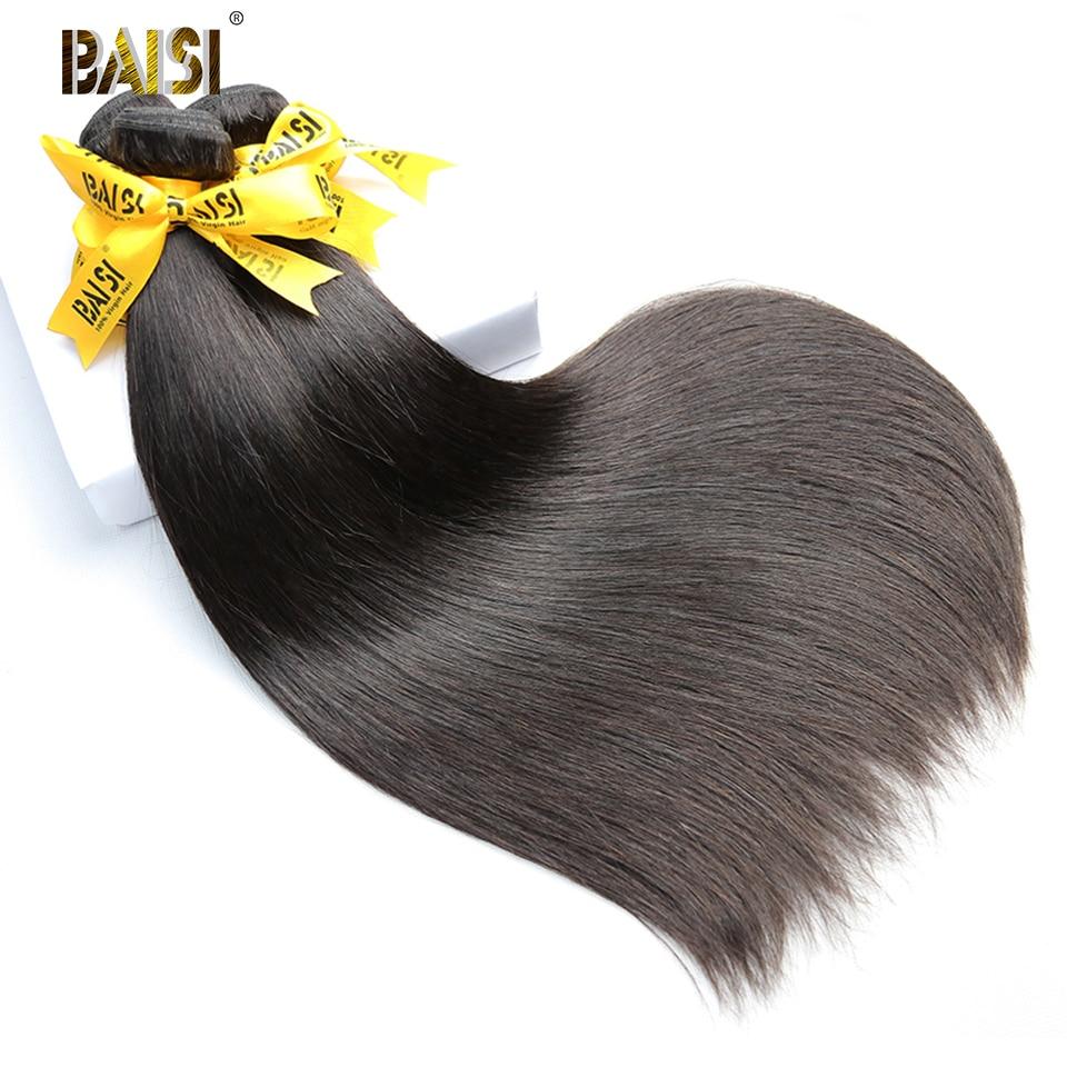 Image 5 - BAISI Hair Peruvian 38 40 42 Inch Virgin Hair Weave Hair Straight Hair Bundles Long Bundles Hair 100% Human Hair bundles-in Hair Weaves from Hair Extensions & Wigs