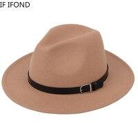 Classic British Fedora Hat Men Women Imitation Woolen Winter Felt Hats Men Fashion Jazz Hat Fedoras Chapeau wholesale 1