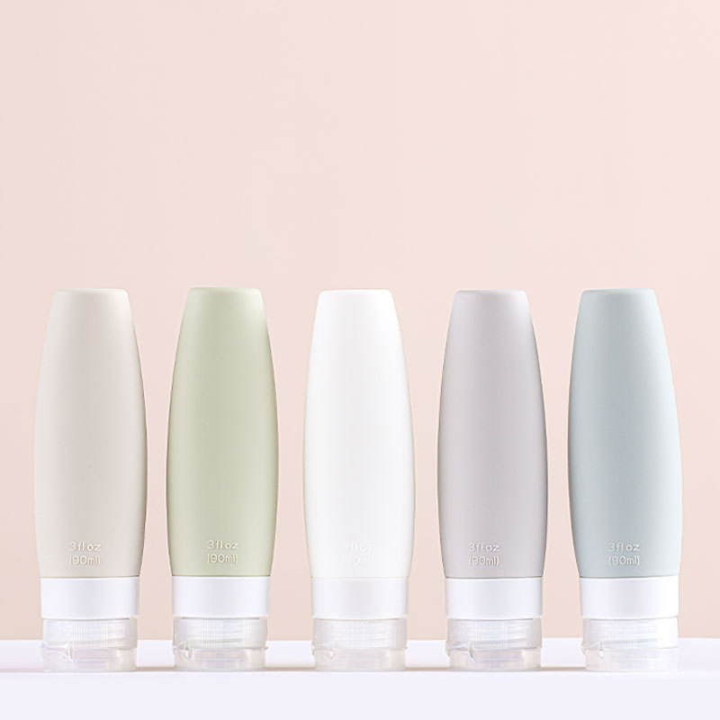 60/90ML Portable Silicone Refillable Bottle Empty Travel Packing Press For Lotion Shampoo Cosmetic Squeeze Containers
