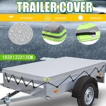 พับฝาครอบรถพ่วงกลางแจ้ง Anti UV Windproof Heavy Duty รถ Cover Tarp หลังคายางเข็มขัด183x122x13cm