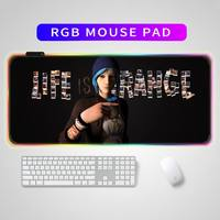 RGB Schreibtisch matten Leben Ist Seltsame Mause Pad Maus Ga mi ng Mousepads Maus Mi Pad Tabelle Pads Matten für mi ce Maus pad mit hintergrundbeleuchtung