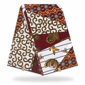 Image 5 - 100% قطن أنقرة أفريقيا طباعة النسيج الشمع الحقيقي Pagne Tissu مواد الخياطة للحفلات الحرفية فستان لتقوم بها بنفسك أنماط الأزهار