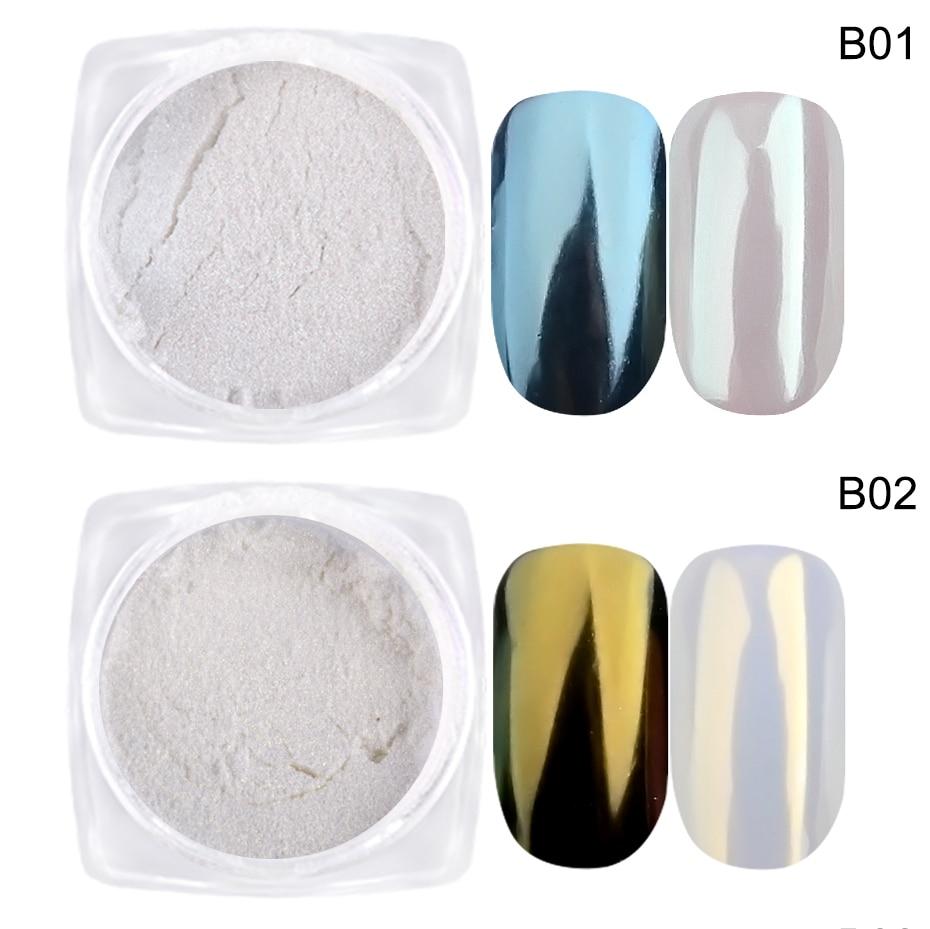 Pearl Powder Nail Art Glitter Mirror Mermaid Effect Chrome Pigment UV Gel Polish Shimmer Dip Dust DIY Nails Decor (4)