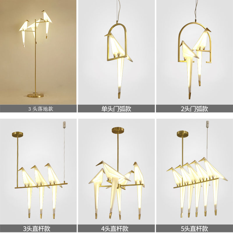 Nordic Industrial Lamp Crystal Bedroom  Living Room  LED  Pendant Lights Deco Maison Deco Chambre Lustre Pendente