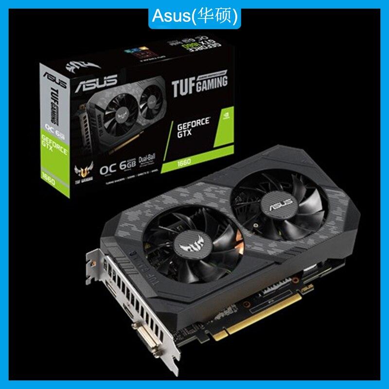 Asus TUF-GTX1660-O6G-GAMING placa gráfica nvidia®Placa de vídeo de geforce gtx 1660 gddr5 6gb dvi hdmi dp