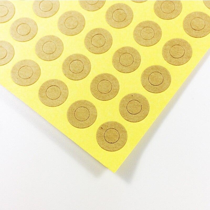 500 unids/lote Vintage Kraft etiqueta con anillo pegatinas para regalo etiqueta anillo-pegatina para productos hechos a mano DIY multifuncional