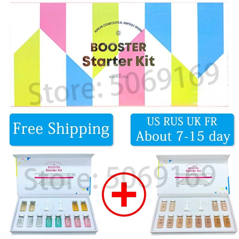 12pcs/box Derma White 8ml BB Cream Glow Mix Kit Serum Add Foundation Niacinamide For Whitening Effective Brightening Anti-aging
