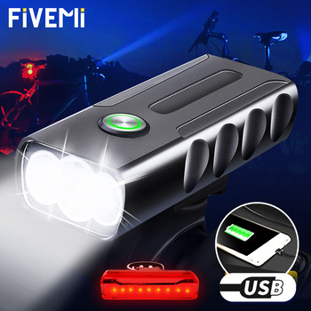 2000LUMEN Bicycle Light L2/T6 LED Bike Light USB Rechargeable bike Flashlight Bicycle Front Light as Power Bank Bike Accessories original nitecore br35 bike light 1800 lumens cree xm l2 u2 led rechargeable bike bicycle front light built in 6800mah battery