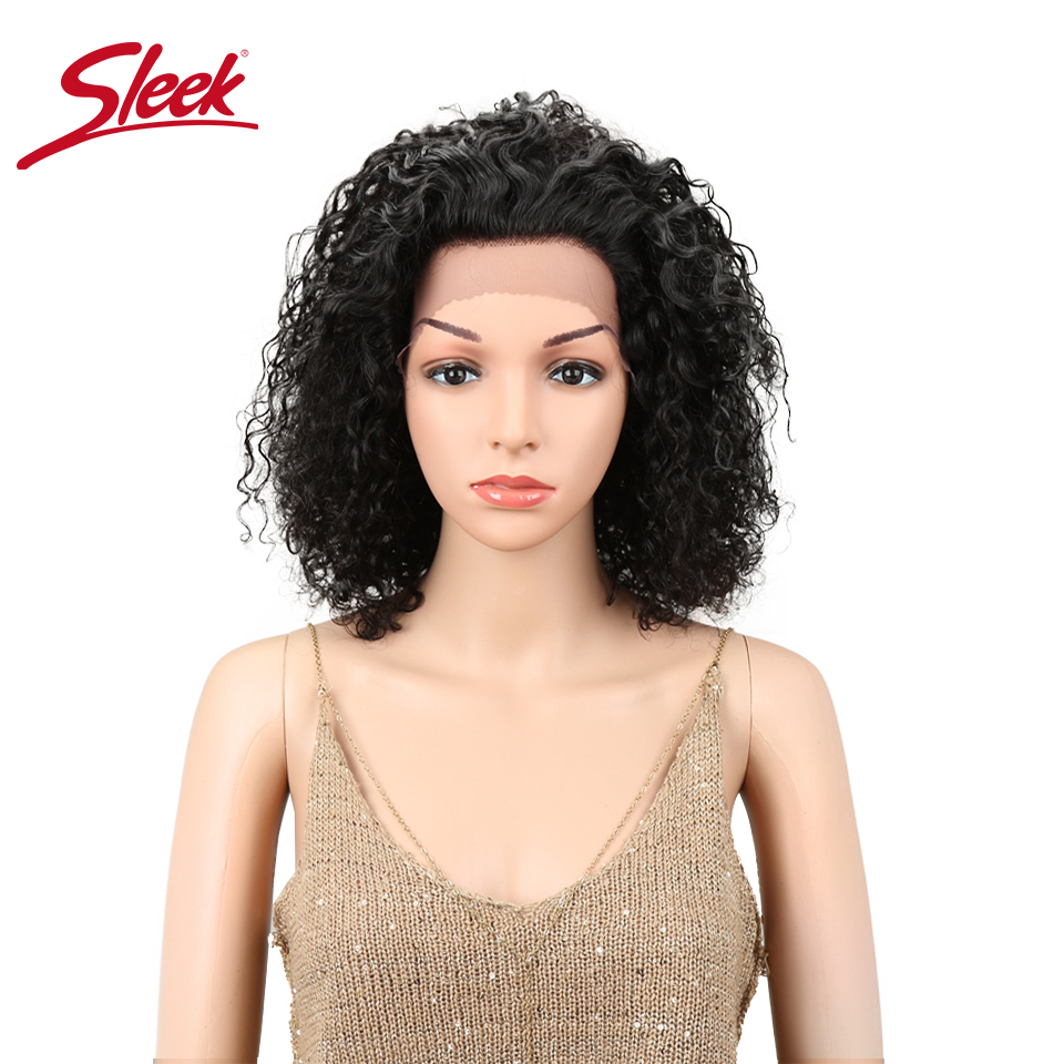 Sleek Hair Lace Front Human Hair Wigs Brazilian Ombre Color Remy Curly Human Hair Wig Wet And Wavy Wig Curly  парики женские