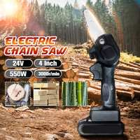 4 inch 3000r/min Electric Cordless Chain Saw Brushless Motor Woodworking Power Tools Electric Chainsaw Angle Grinder