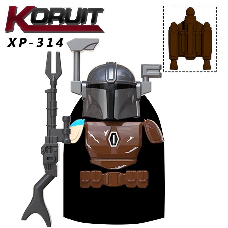 Single Sell Star War Mandalorian Baby R2D2 BB8  Building Blocks Toys For Kids  Bricks Toys For Children Sets Model Figure KT1041