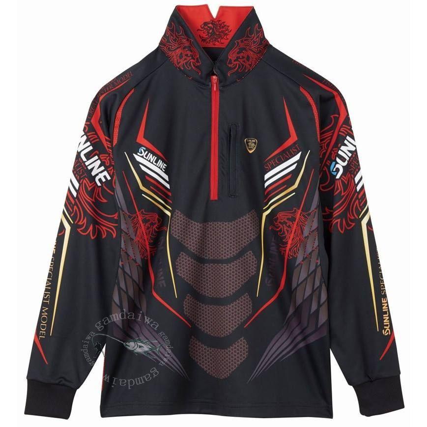 SUN Fishing Shirt Long Sleeves Breathable Quick Dry Fishing Clothing Men Outdoor Sport Cycling Anti-UV Fishing Jersey Summer