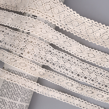 5 Yard/lot Ivory Color Patchwork Cotton Crocheted Lace Ribbon Wedding Party Craft Apparel Sewing Fabric DIY Handmade Accessories