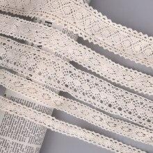 5 Ярд/партия, кружевная лента цвета слоновой кости для свадебных торжеств и шитья, аксессуары ручной работы