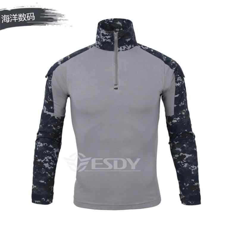 Kamuflaj renkleri abd ordusu savaş üniforma askeri gömlek kargo multicam Airsoft paintball taktik bezi dirsek pedleri 14 renk