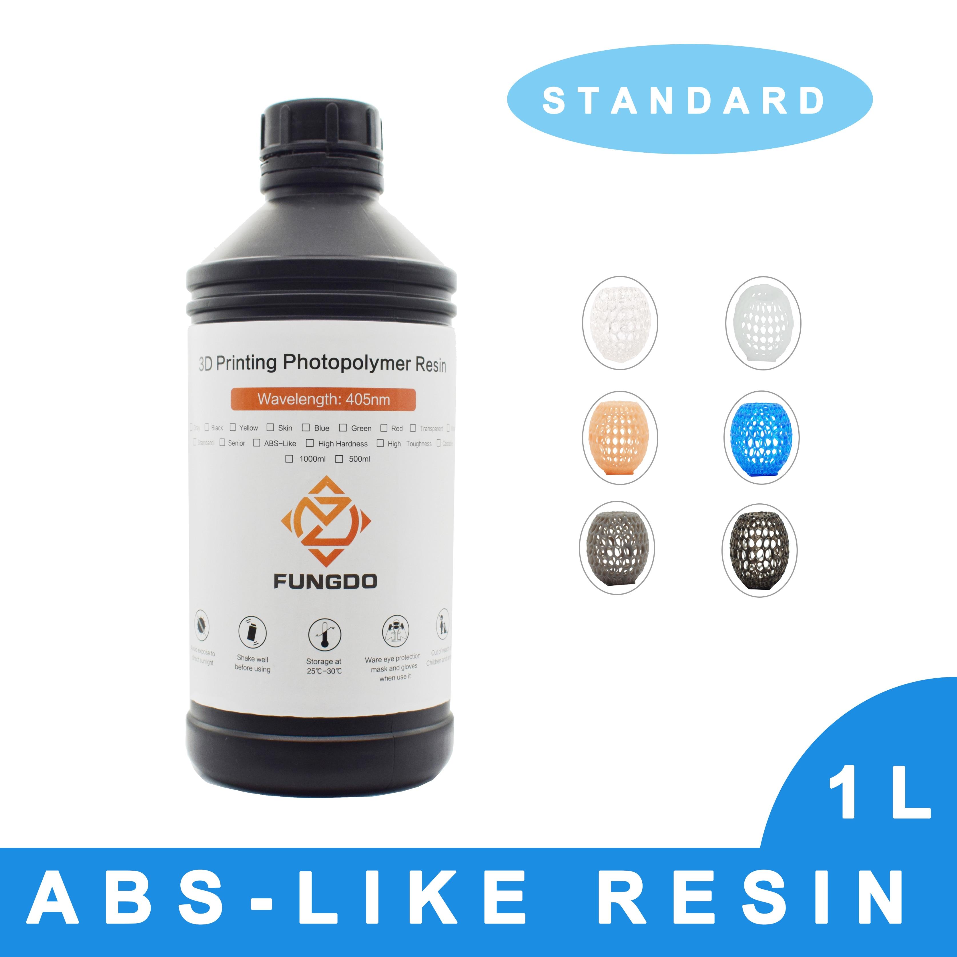 FUNGDO 3d printer resin standard ABS-like photopolymer 3D print liquid 405nm UV light sensitive for