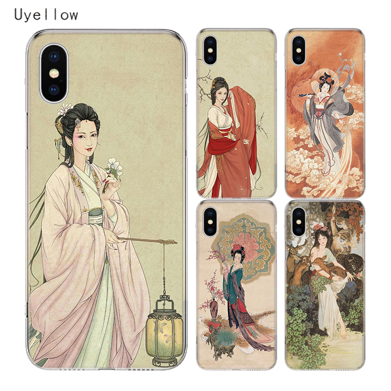 Uyellow Chinese Myth Cover For Iphone 5 6S 7 8 Plus 11 Pro Silicone Soft Phone Case Apple X XR XS MAX Coque