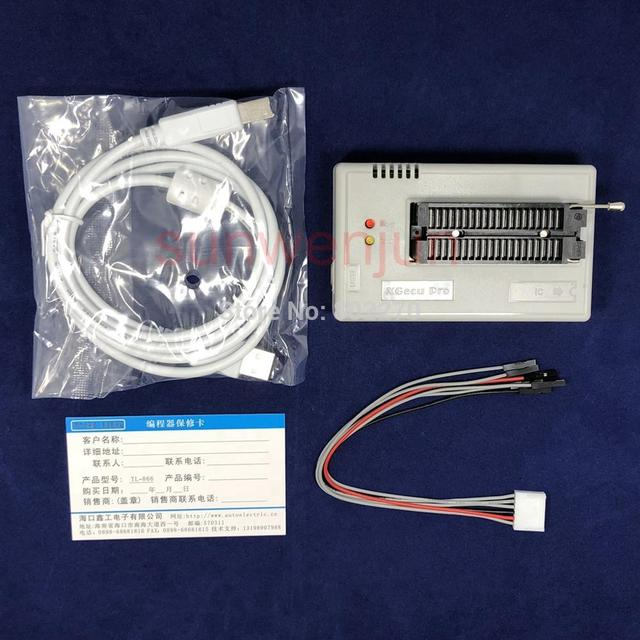Black Edition V10.27 XGecu TL866II Plus USB apoio Programador 15000 + IC MCU PIC AVR EEPROM SPI Flash NAND substituir TL866A TL866CS