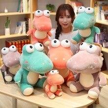 20cm/35cm/45cm Funny Kawaii Big Eyes Crocodile Plush Toy Soft Cartoon Animal Three Colors Stuffed Doll Gift for Child
