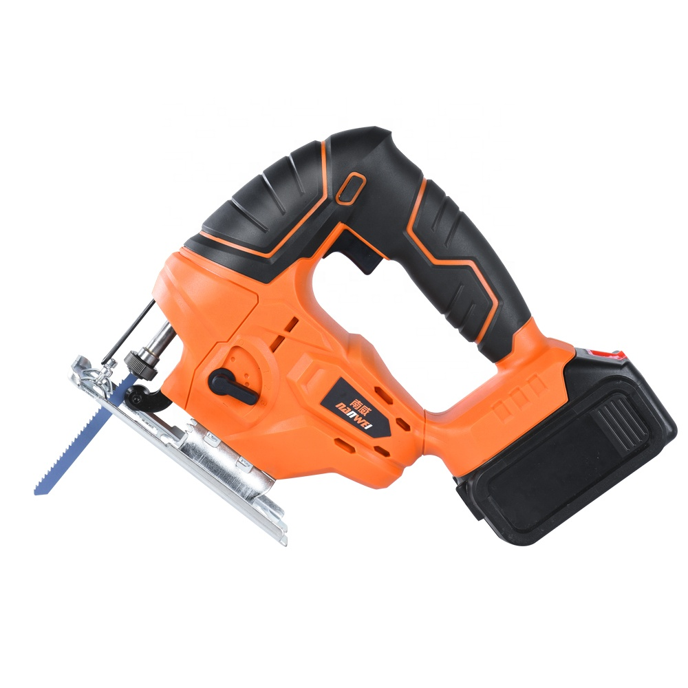 21V 1.5Ah Cordless Jig Saw Adjustable Speed Electric Saw with Blades Metal Ruler