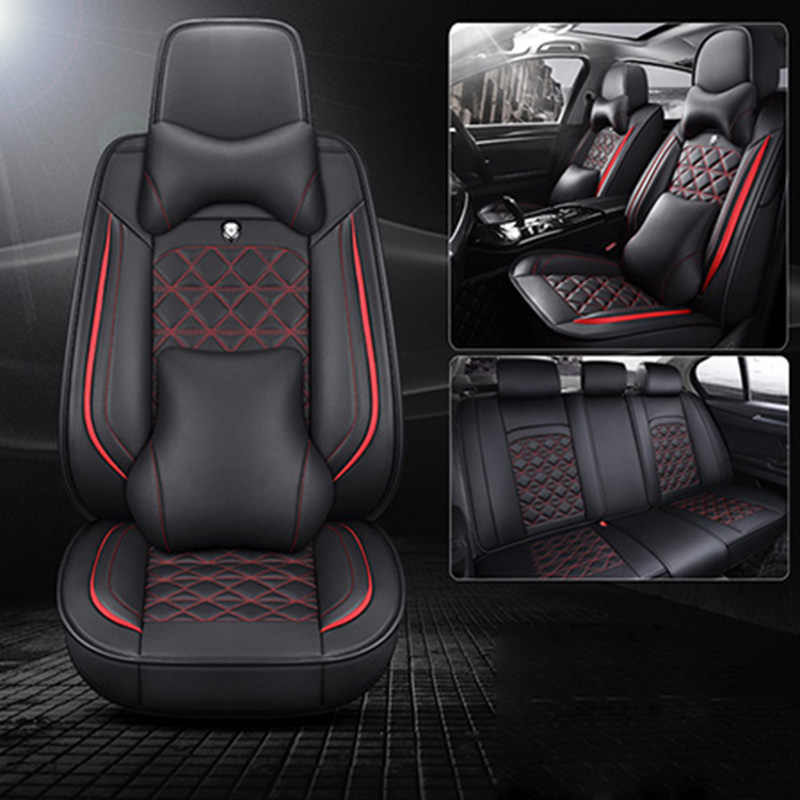 Luxe Lederen Auto Seat Cover Voor Audi A1 A3 A4 A5 A6 A7 A8 Q2 Q3 Q5 Q7 R8 Tt RS3 RS4 RS5 RS6 Alle Modellen Auto Stoel Protector