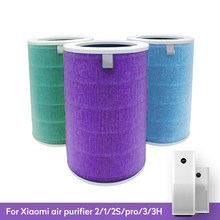 Air Filter For Xiaomi Air Purifier Mi 1/2/2S/3/3H Pro Air Purifier Carbon HEPA Replacement Filter Anti Bacteria formaldehyde