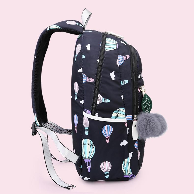 Cartoon Pattern School Bags for Teenage Girls Kids High capacity Children Student Backpack Teen Shoulder Bag
