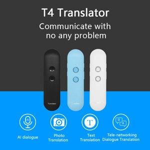 Image 1 - Newest T4 Upgrade interpreter smart portable voice translator Instant Real time language translator Bluetooth VoiceTranslator