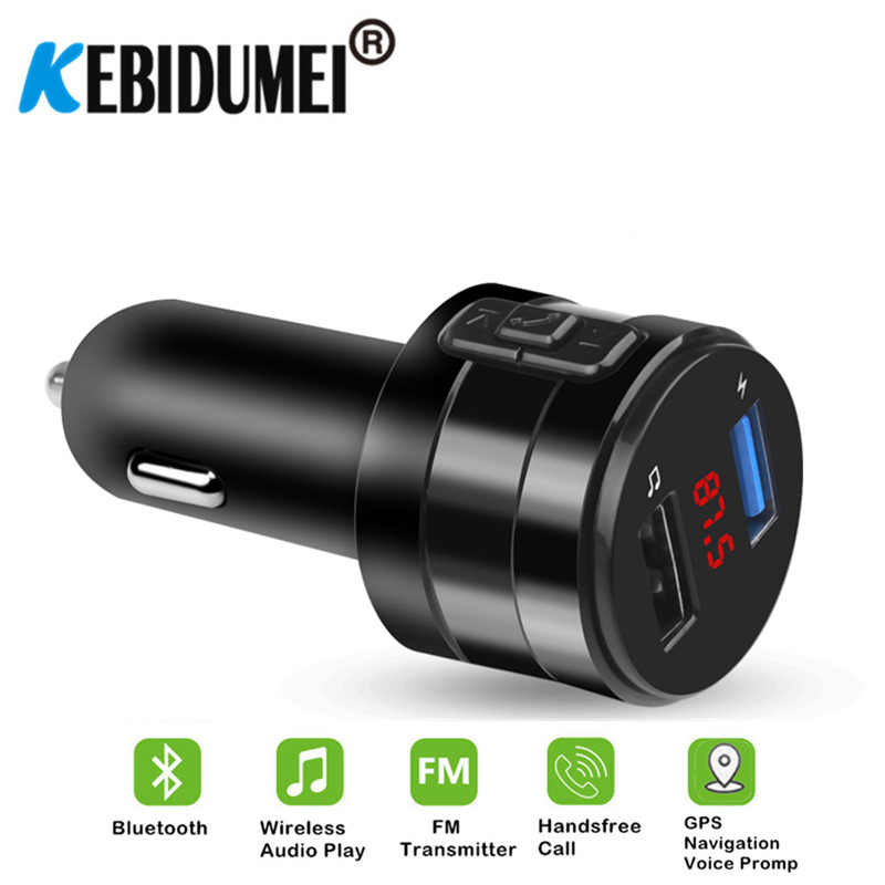 Car Bluetooth FM Transmitter Modulator 3.1A Dual USB Ports Car Charger MP3 Player Wireless Audio Receiver Handfree Kit