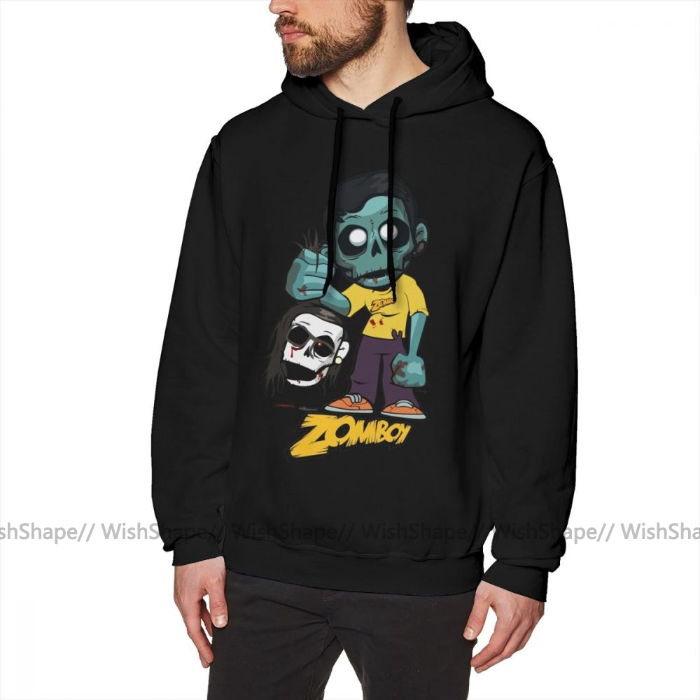 <font><b>Skrillex</b></font> <font><b>Hoodie</b></font> Zomboy With <font><b>Skrillex</b></font> Hoodies XL Male Pullover <font><b>Hoodie</b></font> Cotton Outdoor Black Long Length Warm Popular Hoodies image