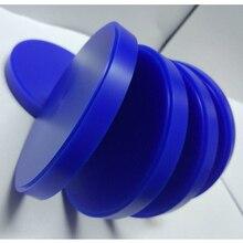 5 unids/lote bloque de cera Dental laboratorio CAD CAM disco de cera para sistema Weiland 98mm * 10/12/14/16/18/20/25mm bloque de cera azul tallado
