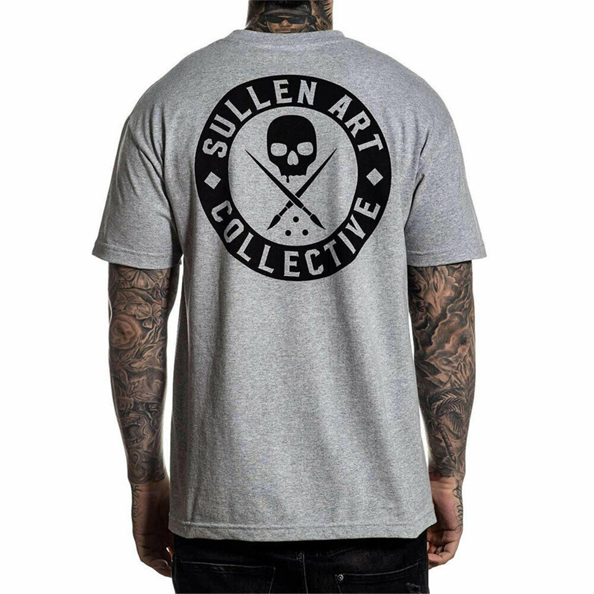 Sullen Men's Classic Short Sleeve T-Shirt Heather Gray Clothing Apparel S Tops Tee Shirt Latest new style(China)