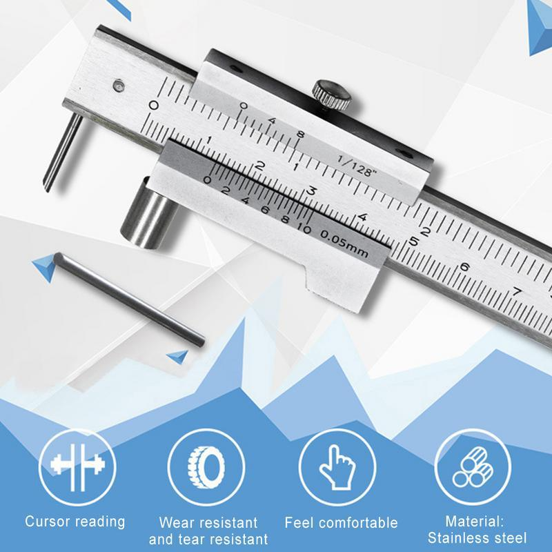 Parallel Loose Thread Caliper 0-200 Mm Stainless Steel Parallel Loose Thread Vernier Caliper