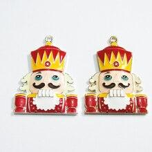 Neueste 45mm * 37mm 10 teile/los Zink legierung Halskette Weihnachten Anhänger Für Chunky Schmuck